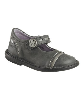 Dark Gray Most Chic Mary Jane - Kids