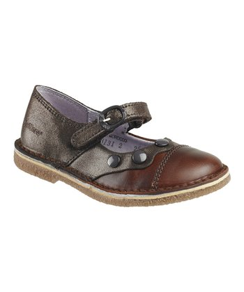 Dark Brown Fanette Mary Jane - Kids