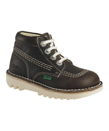 Dark Brown Rallye Ankle Boot - Kids