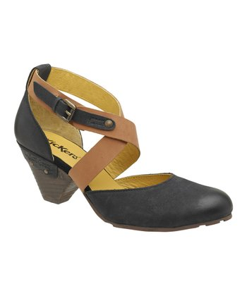 Black & Gray Willow Pump - Women