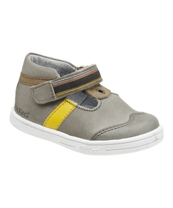 Gray & Beige Teo Shoe - Kids