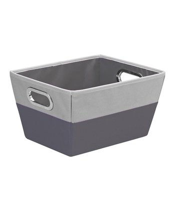 Charcoal & Gray Medium Color Block Storage Tote