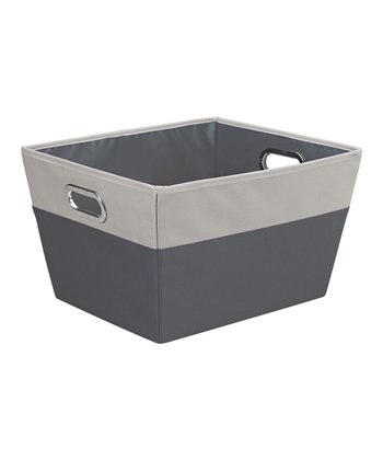 Charcoal & Gray Large Color Block Storage Tote