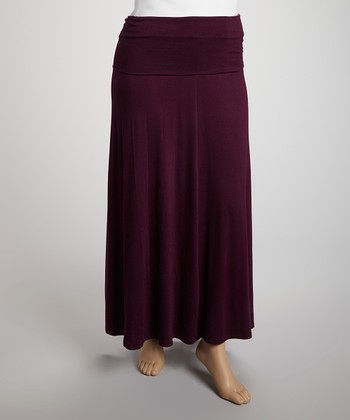 Eggplant Jahna Maxi Skirt - Plus