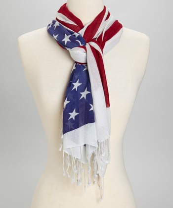 Red & Blue Patriotic Scarf