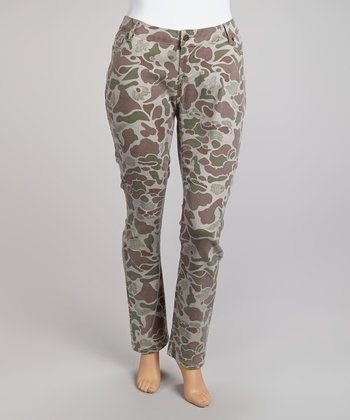 Land Camo Skinny Pants - Plus