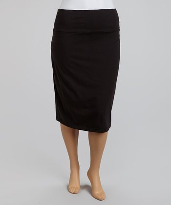 Black Pencil Skirt - Plus