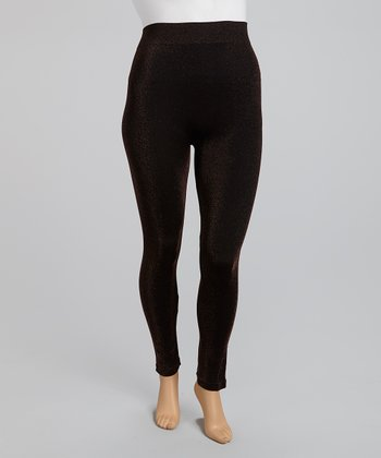 Bronze Shimmer Leggings - Plus