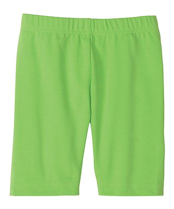 Go For It Green Bike Shorts - Toddler & Girls
