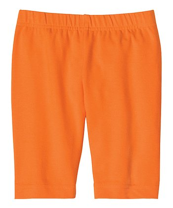 Tiger Orange Bike Shorts - Toddler & Girls