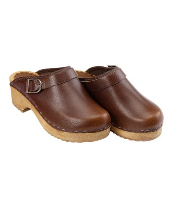 Brown Classic Swedish Clogs