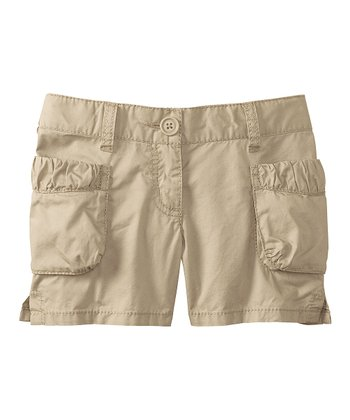 Khaki Rope Cargo Shorts - Infant, Toddler & Girls