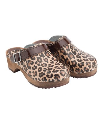 Leopard Classic Swedish Clogs