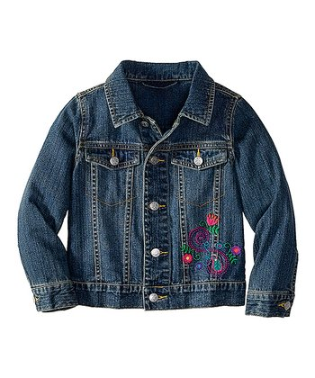Vintage Best Friend Denim Jacket - Girls