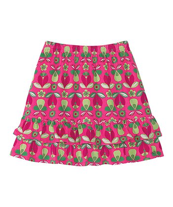 Zing Pink Cozy Cord Twirly Skirt - Infant, Toddler & Girls