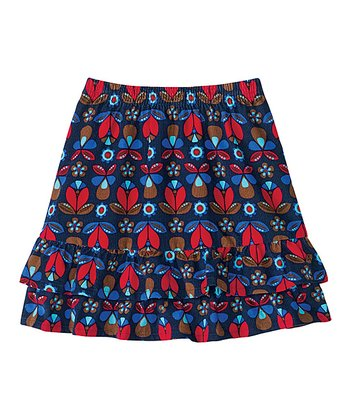 Navy Cozy Cord Twirly Skirt - Infant, Toddler & Girls