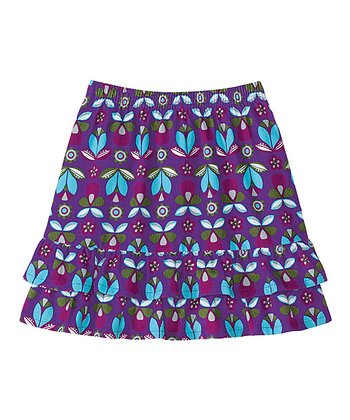 Perfect Purple Cozy Cord Twirly Skirt - Infant, Toddler & Girls