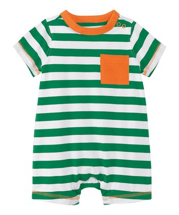 Green Grass Stripe All In One Romper - Infant & Toddler