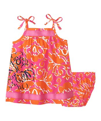 Bouquet Pink Floral Swing Dress & Diaper Cover - Infant & Toddler
