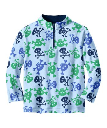 Blue Crossbones Microfleece Pullover - Toddler & Boys