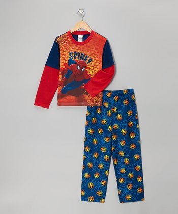 Red & Blue 'Spidey' Spider-Man Pajama Set - Boys