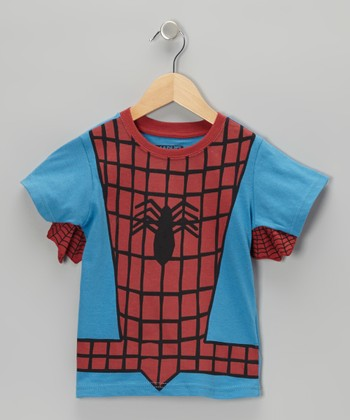 Blue & Red Spider-Man Outfit Tee - Boys