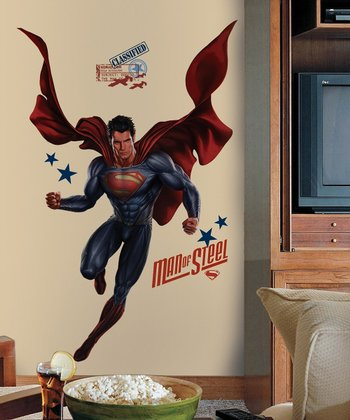 Superman Man of Steel Peel-and-Stick Giant Wall Decal