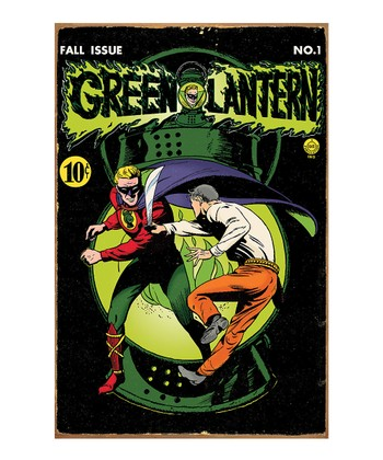 Green Lantern Comic Book Metal Sign