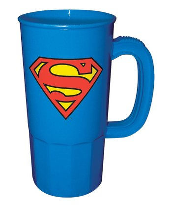 Blue Superman Logo Stein