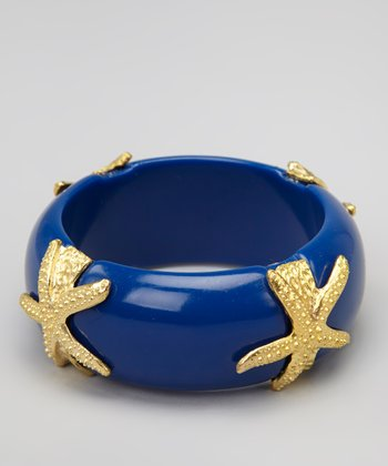Navy Starfish Bangle