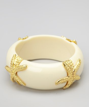 White Starfish Bangle