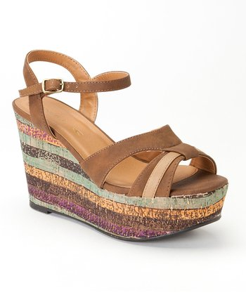 Dark Brown Tamara Wedge
