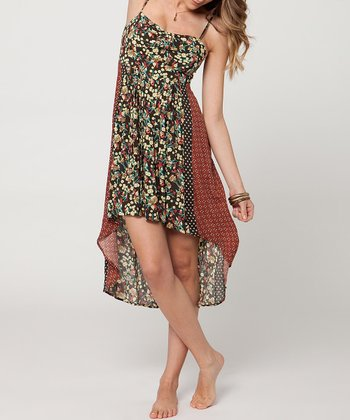 Black & Rust Kari Hi-Low Dress
