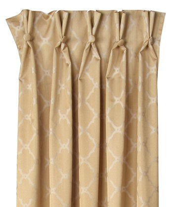 Large Beige Curtain Panel