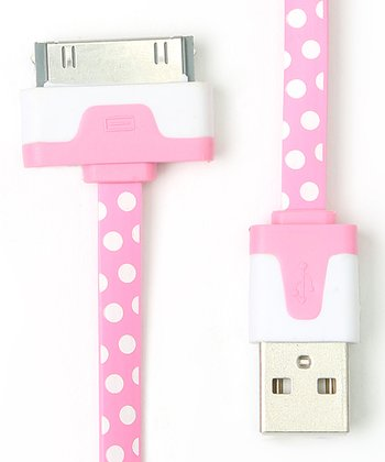 Pink Polka Dot Sync 30-Pin Cable