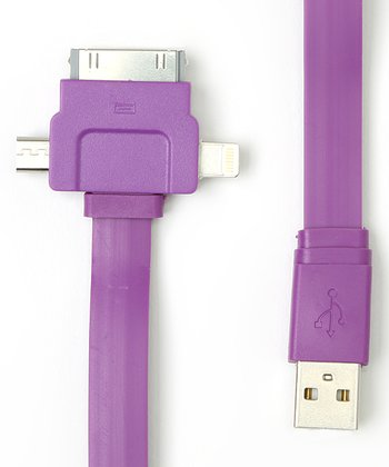 Purple Three-Port Charge & Sync Cable