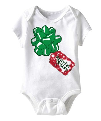 White 'My First Christmas' Tag Bodysuit - Infant