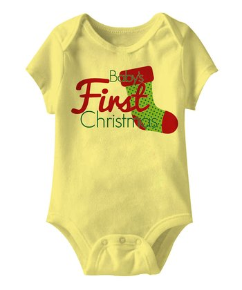 Banana 'Baby's First Christmas' Stocking Bodysuit - Infant