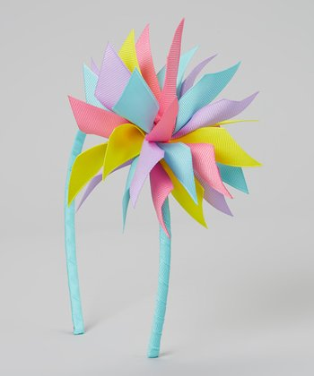 Turquoise Easter Surprise Bow Headband