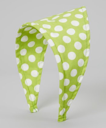 Lime Polka Dot Scarf Headband