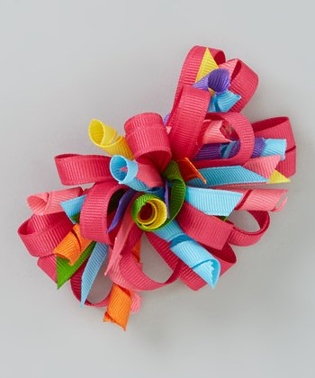 Pink Loop Party Bow Clip