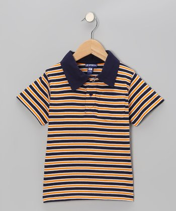 Orange Stripe Polo - Toddler