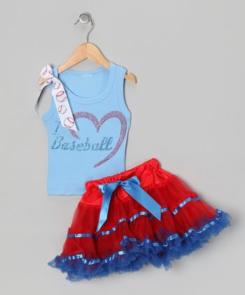 Blue Love Baseball Tank & Pettiskirt - Infant, Toddler & Girls