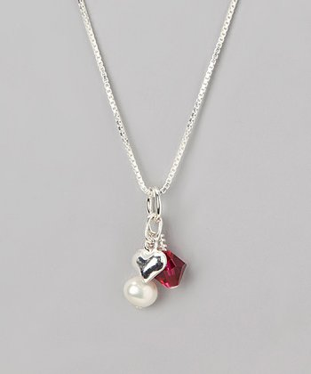 Garnet Crystal January Birthstone Necklace