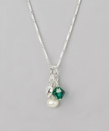 Emerald Crystal May Birthstone Necklace