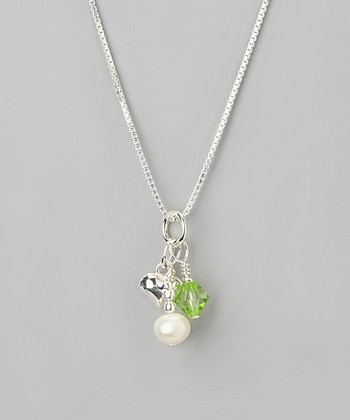 Peridot Crystal August Birthstone Necklace