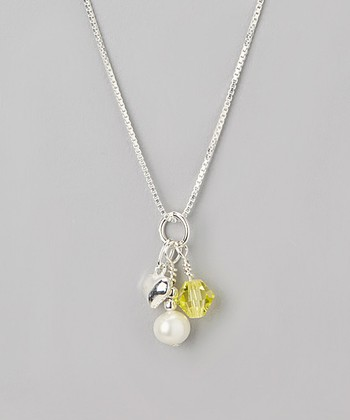 Yellow Crystal November Birthstone Necklace