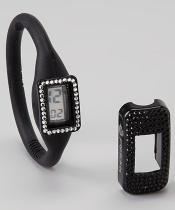 Black Watch & Swarovski Crystal Cover Set