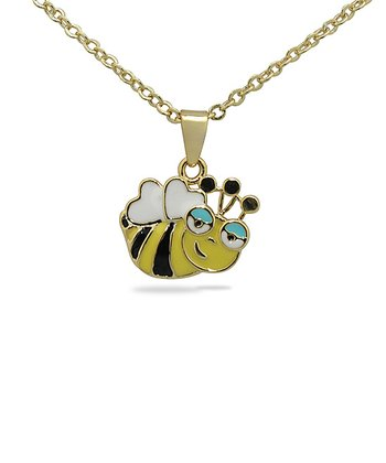 Gold Bumblebee Pendant Necklace