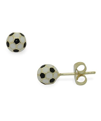 Gold Soccer Stud Earrings